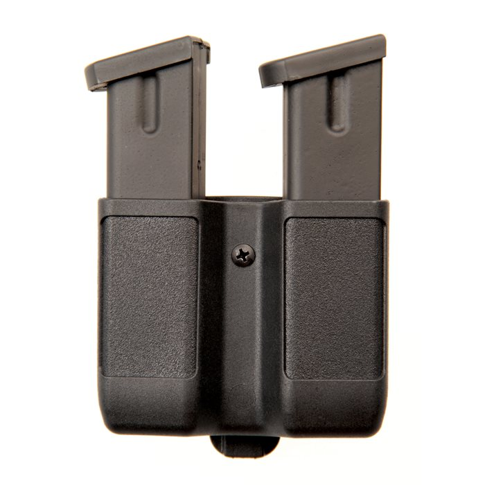 Blackhawk 410610PBK Double Mag Double Row 9mm|40 Cal|45 Cal|357Sig Adjustable Synthetic Black
