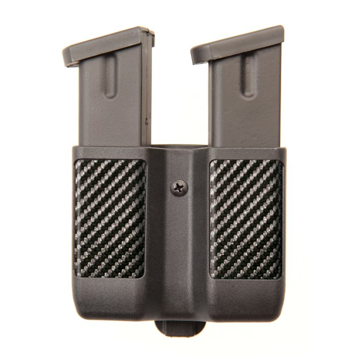 Blackhawk 410610CBK Double Magazine Case Double Stack 9mm|40 Cal|45 Cal|357Sig Up to 2.25 Carbon Fiber Black in.
