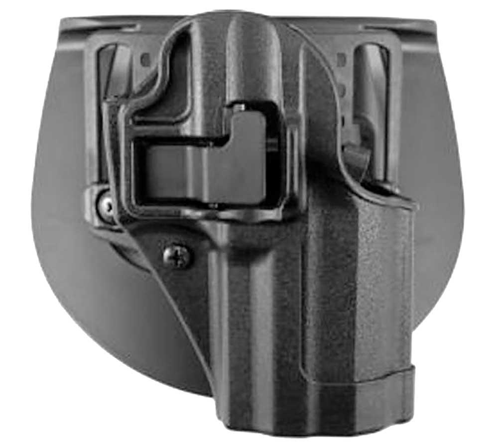 BlackHawk! 410538BK-R Serpa CQC, Belt & Paddle Holster Glock 38, Plain Matte Black Finish, Right Hand