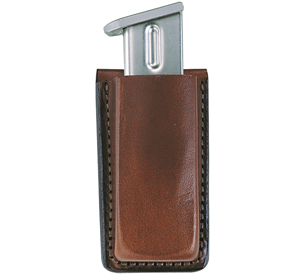Bianchi 10737 20A Open Magazine Pouch Colt Govt 380; Kahr K9|MK9|K40|K40Cov; Mauser HSC Up to 1.75 Leather Tan in.