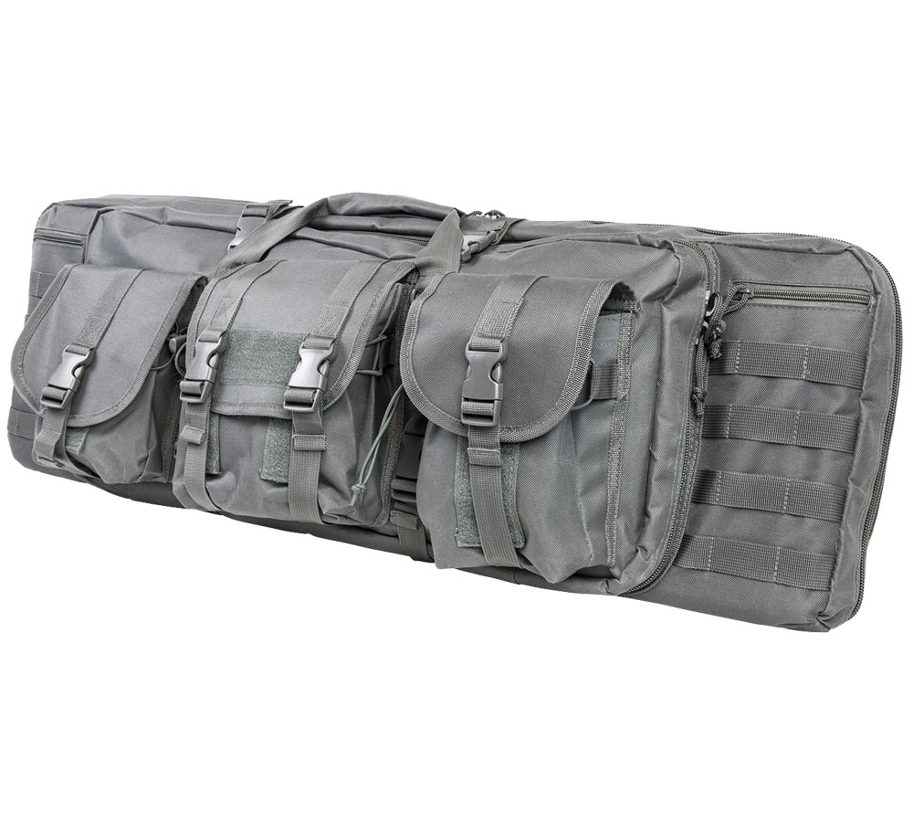 NC Star Double Carbine Case 42&quot Urban Grey Padded Synthetic