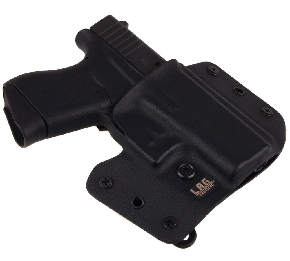 LAG TACTICAL INC 1044 Defender  Inside-Outisde-The-Waistband Holster Glock 42 Kydex Black