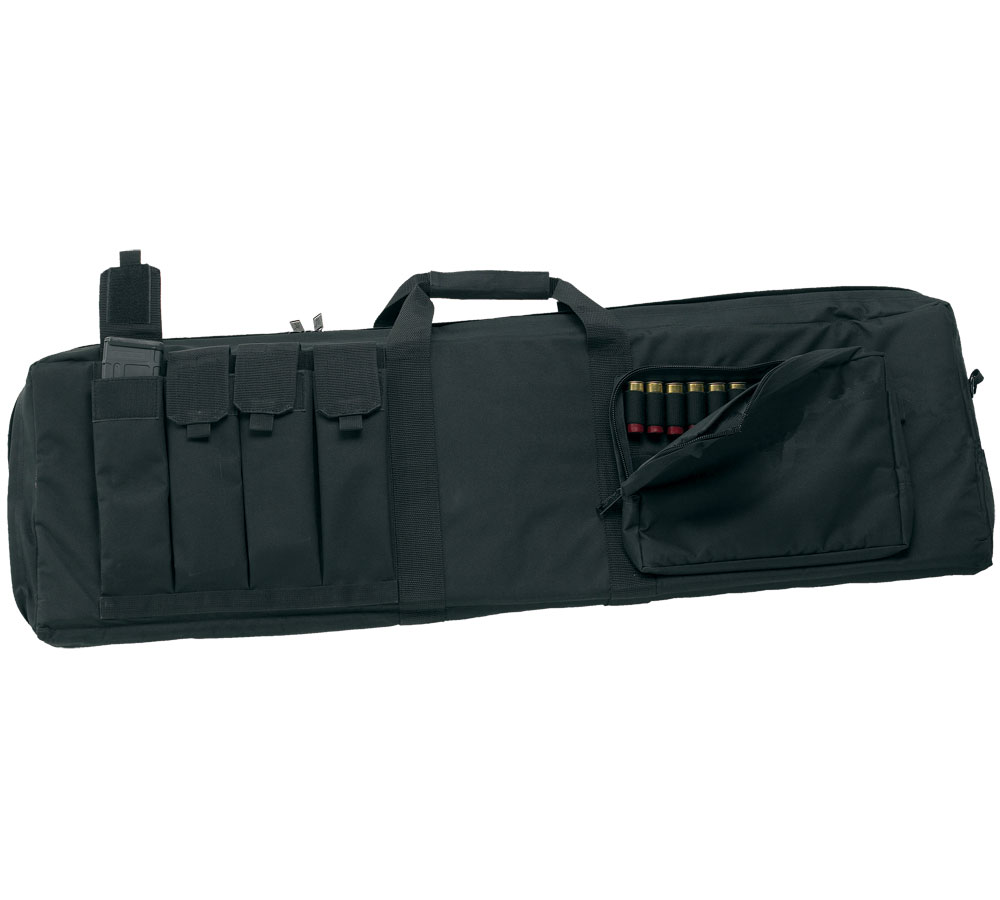 US PeaceKeeper P30043 Tactical Combo Case Rifle|Shotgun 600D Polyester 43 x 12.75 in.  x 3.75 in.  Black in.