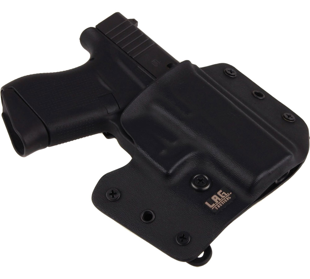 LAG TACTICAL INC 1053 Defender  Inside-Outisde-The-Waistband Holster Glock 43 Kydex Black