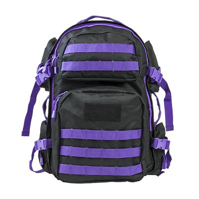 NC Star Tactical Backpack Black w|Purple