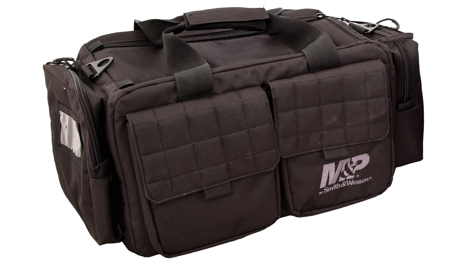 M&P Accessories 110023 Officer Tactical Range Bag Nylon 22 x 14 in.  x 10.5 in.  Exterior Black in.
