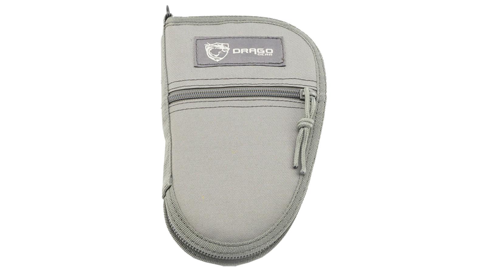 Drago Gear 12311GY Pistol Case 600D Polyester 9.5 L x 6 in.  W Gray in.