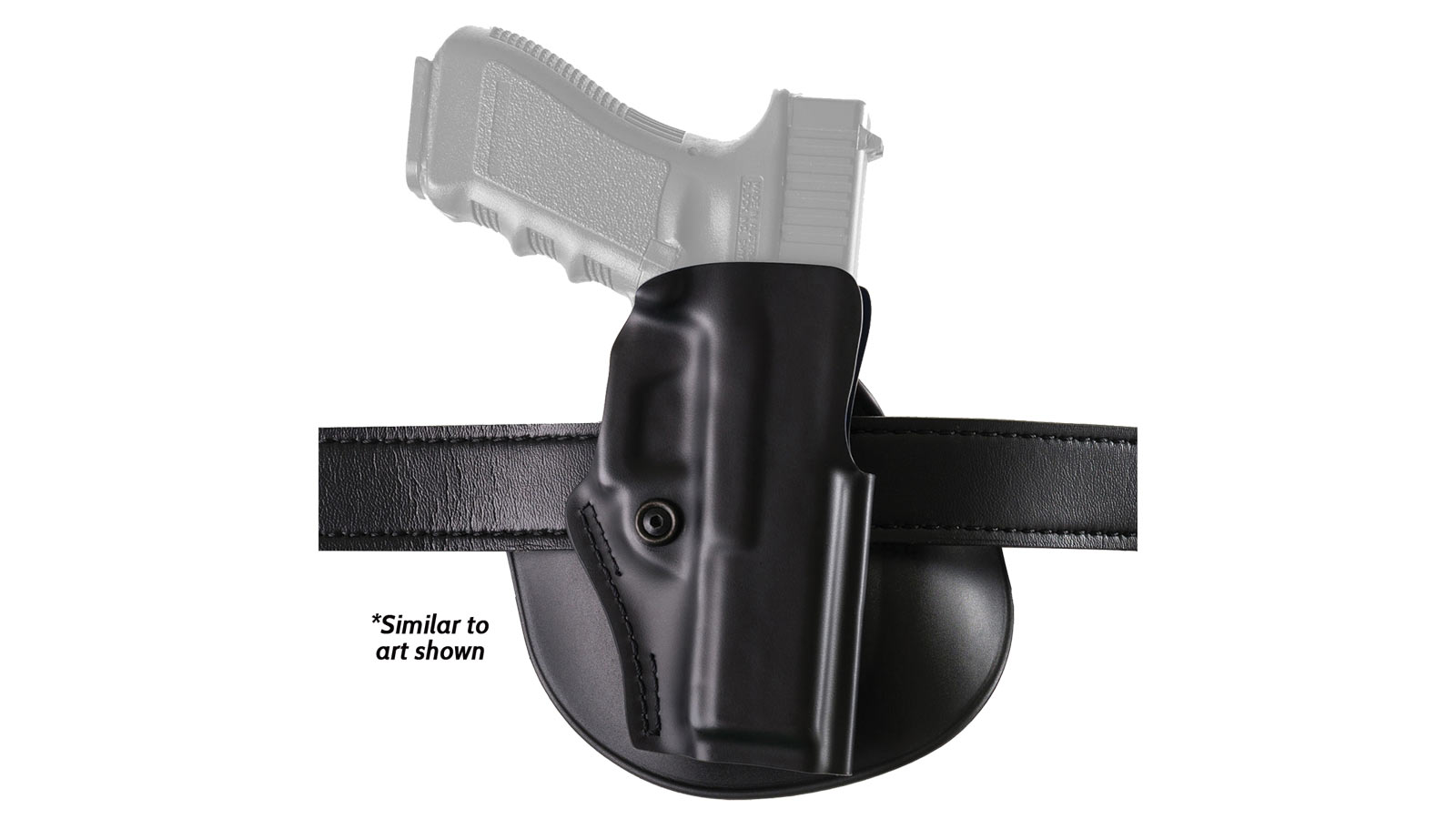 Safariland 5198179411 5198 Paddle Holster S&W M&P Shield Thermoplastic Black