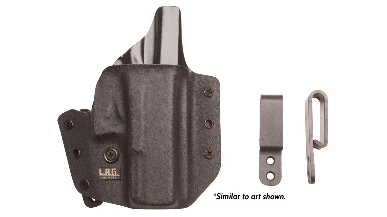 L.A.G. Tactical, Inc. DFNDR SIG P938 OWB/IWB BLK RH