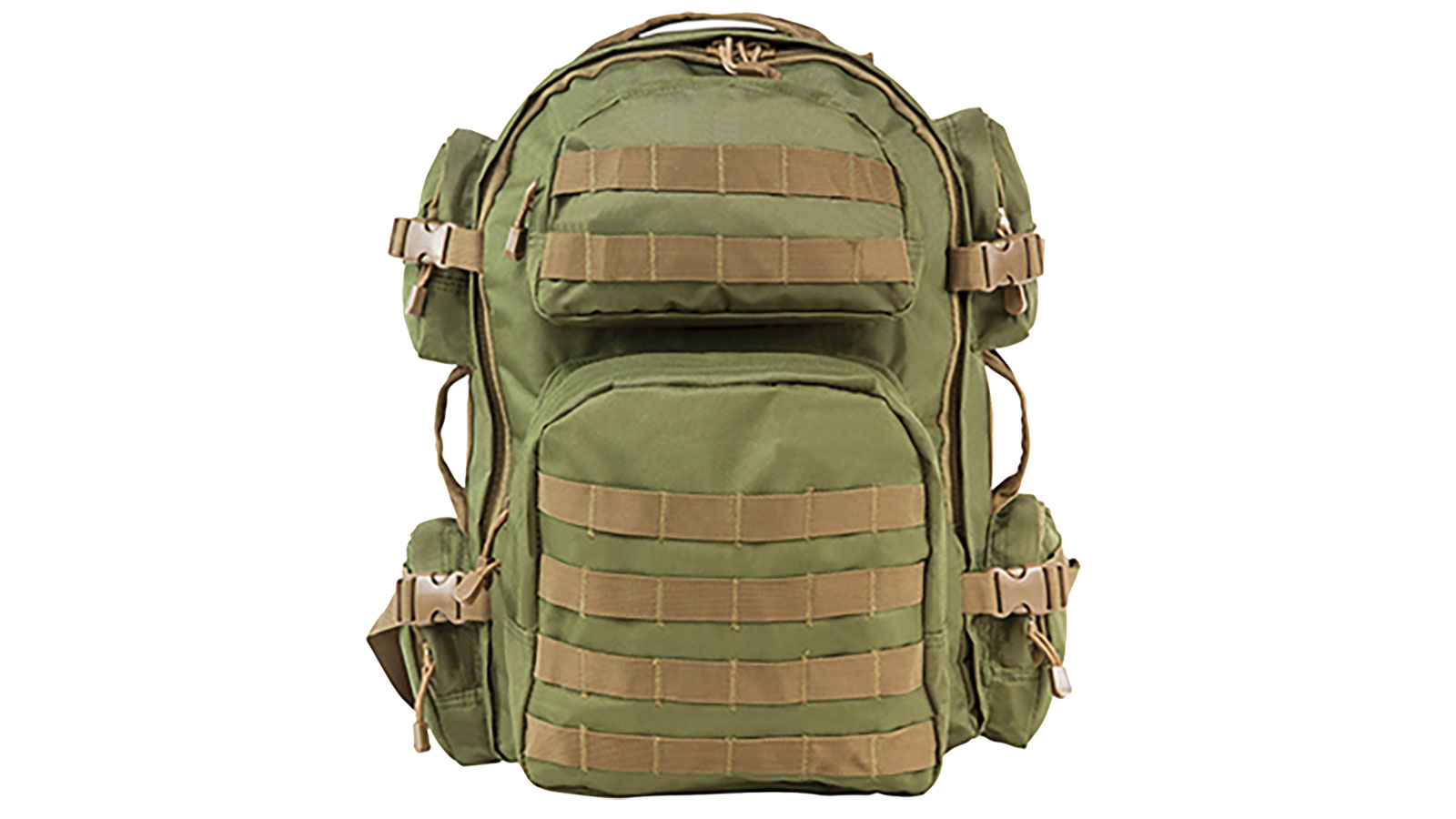 NC Star Tactical Backpack Green with Tan Trim