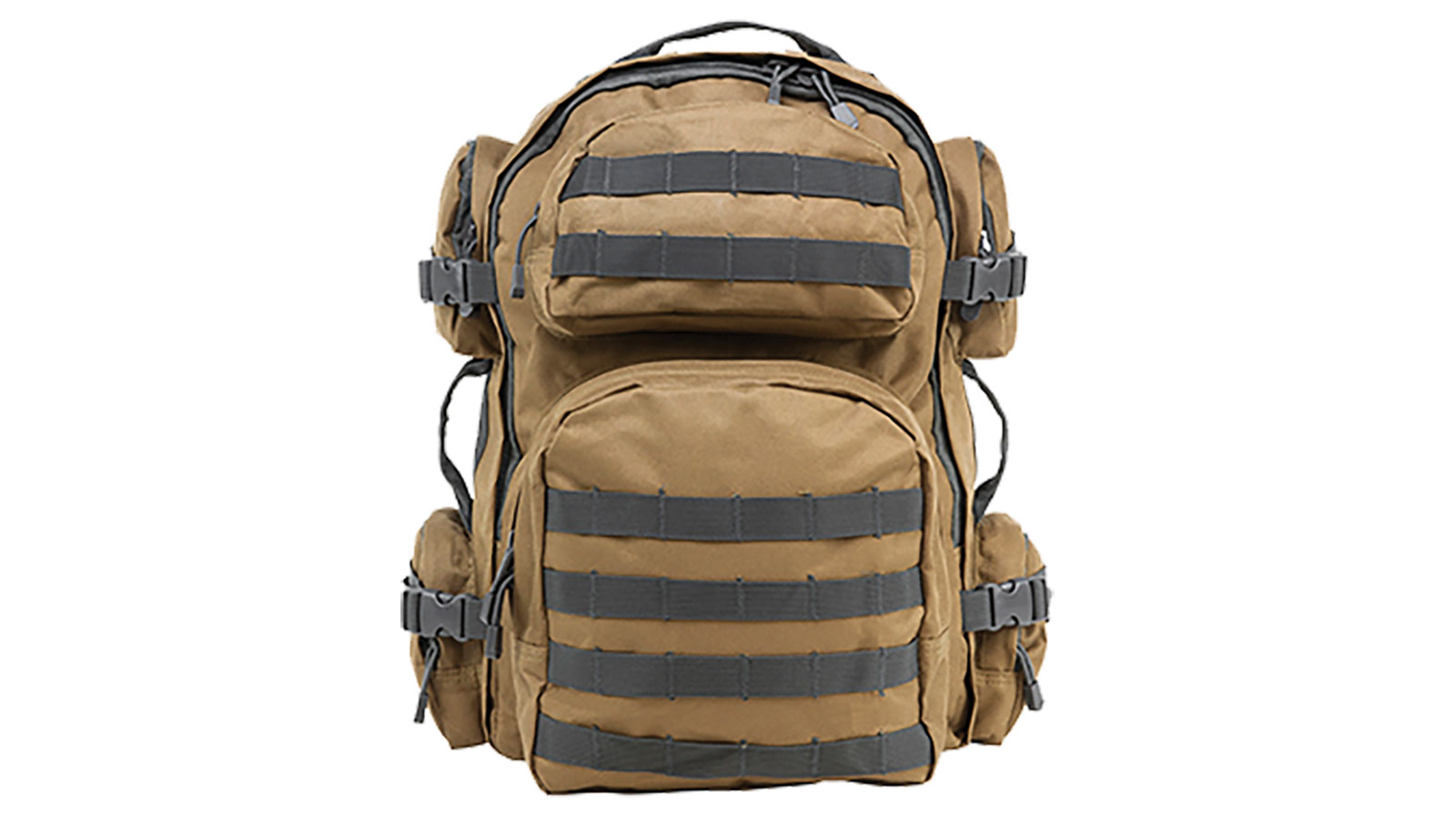 NC Star Tactical Backpack Tan with Urban Gray Trim