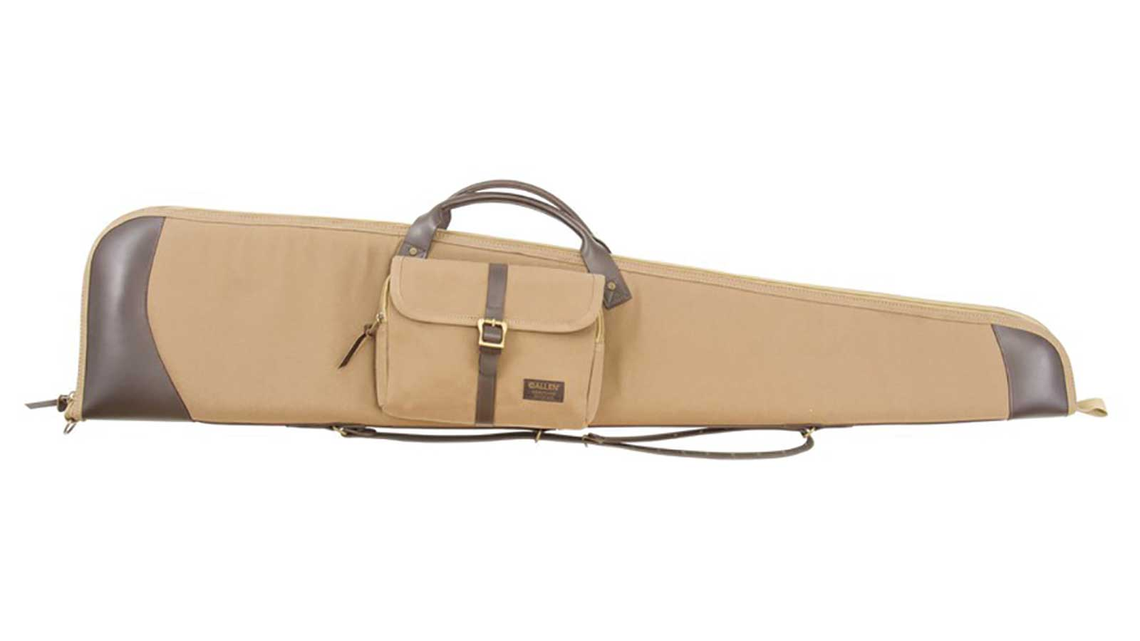 Allen 96948 Heritage Gun Case Canvas with Leather Accents 49 x 10.5 in.  x 4 in.  (Exterior) in.