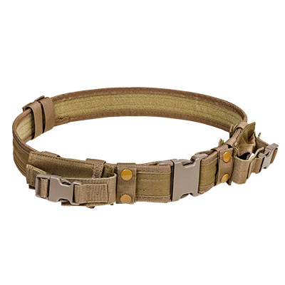 NcStar Vism Tactical Belt With Two Pouches/ Tan