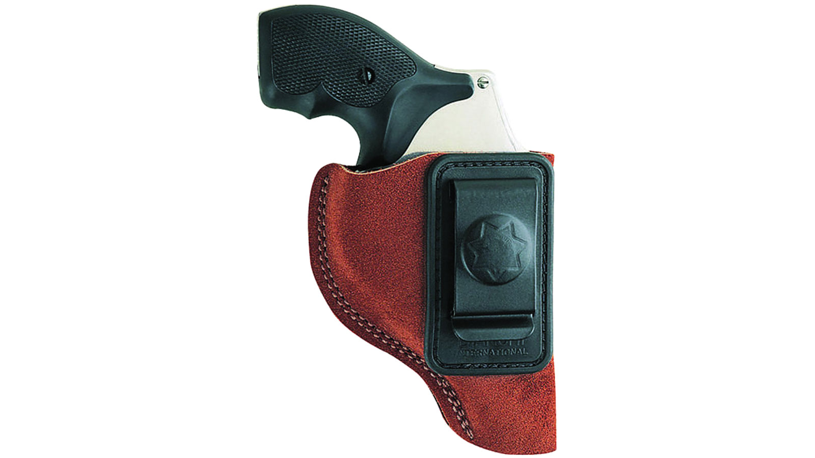 Bianchi 10380 6 Waistband 3 Barrel Charter Arms; Colt; Ruger; S&W; Taurus Leather Tan in.