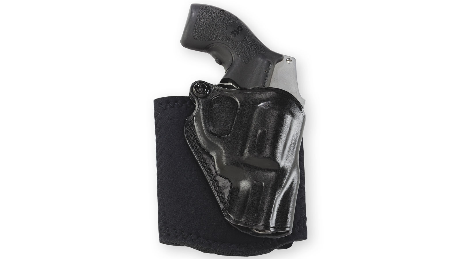Galco AG158B Ankle Glove Holster Fits Ankles up to 13 S&W J Frame Hammered|Hammerless Steerhide Black in.