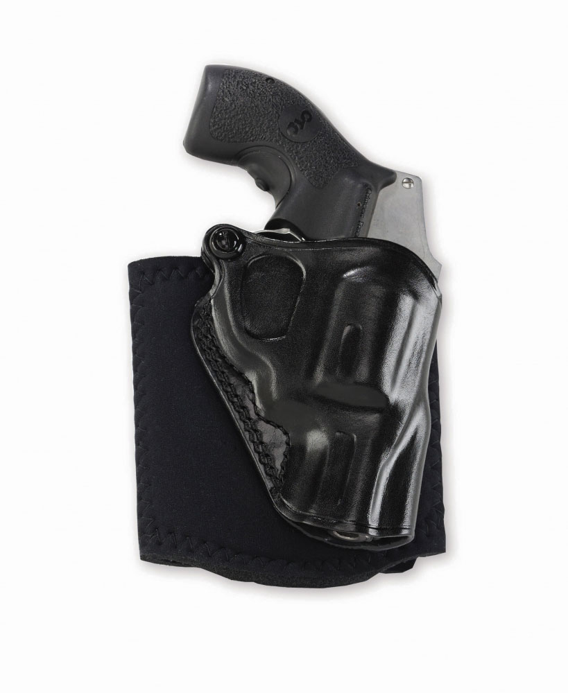 Galco AG159B Ankle Glove Holster Fits Ankles up to 13 S&W J Frame 640 Centennial 2.125 in.  Steerhide Black LH in.
