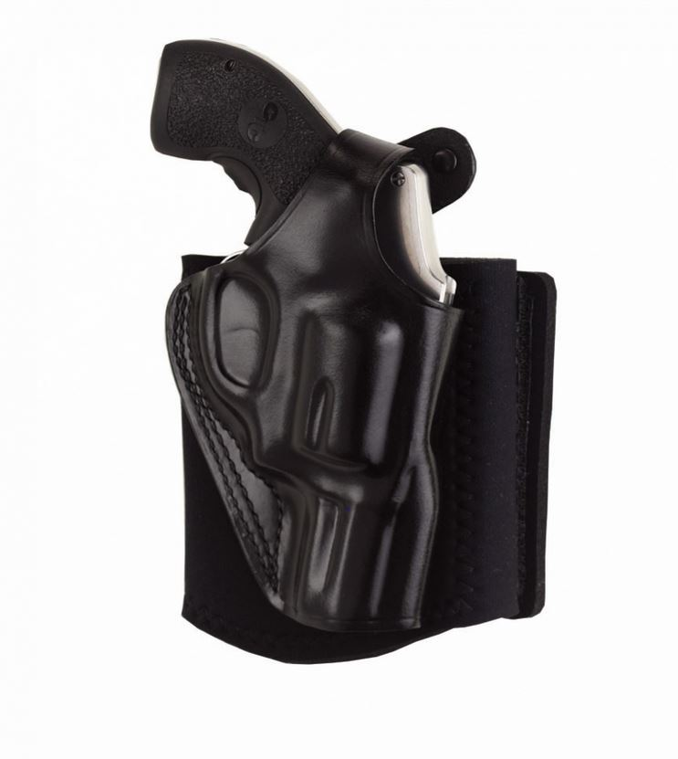 Galco AG286B Ankle Glove Holster Fits Ankles up to 13 Glock 26 Steerhide Black in.