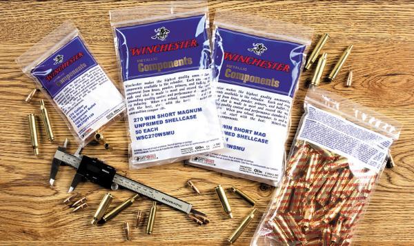 Winchester Ammo WSC270WSMU Case Unprimed 270 Winchester Short Magnum 50 Per Bag
