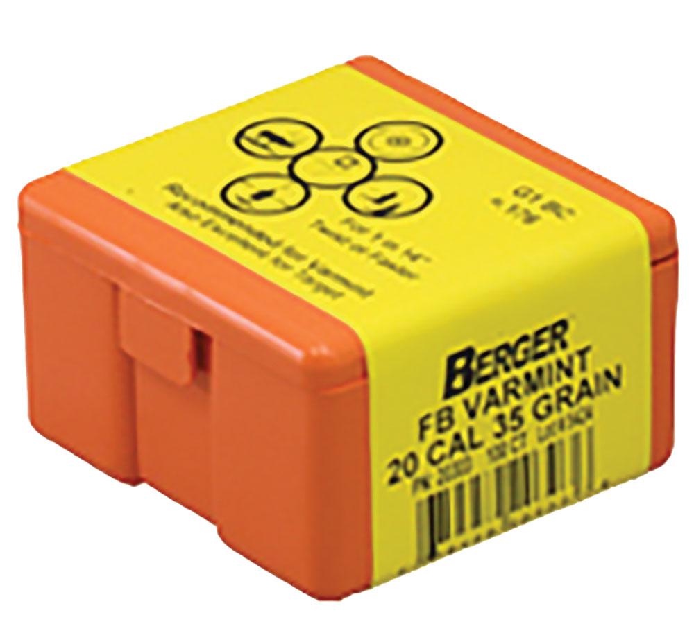 Berger Bullets 20303 Varmint FB Match Grade 20 Caliber .204 35 GR 100Bx