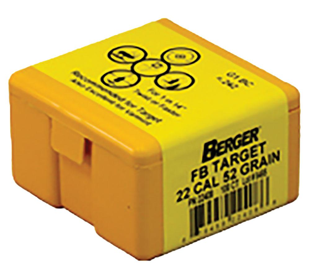 Berger Bullets 22408 Target 22 Caliber .224 52 GR Target Flat Base 100 Box