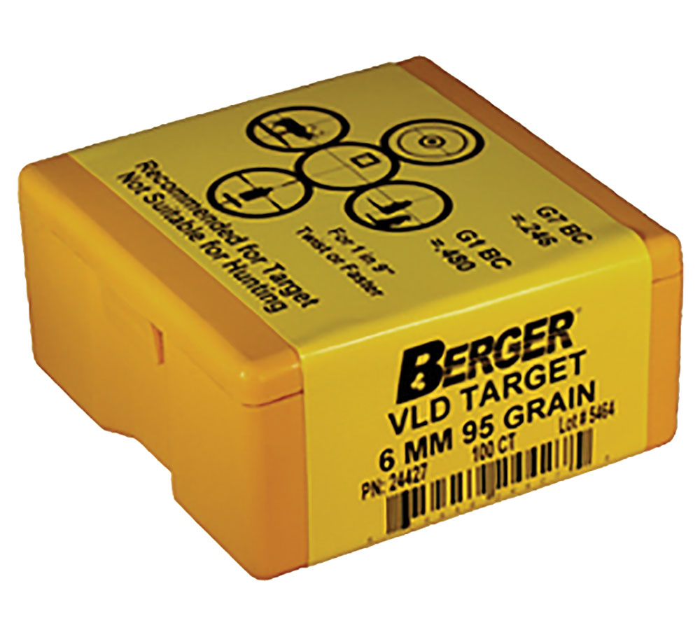 Berger Bullets 24427 Target BT Match Grade 6mm .243 95 GR 100Bx