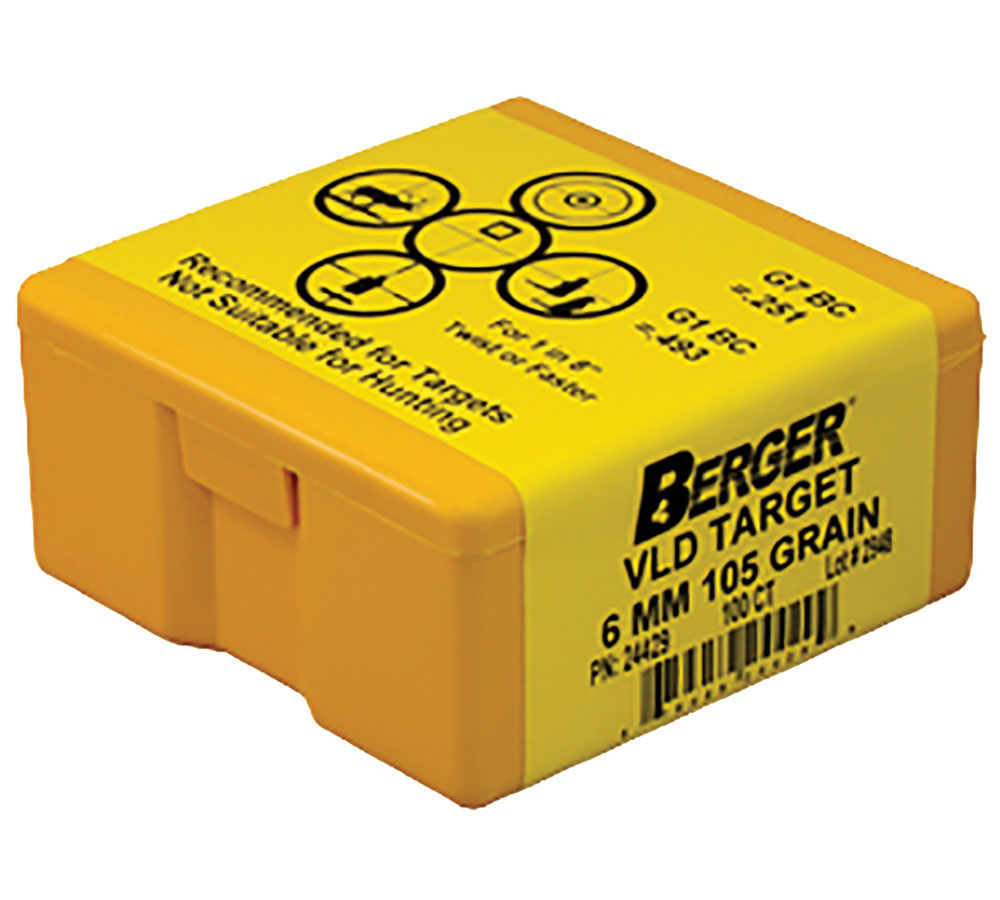 Berger Bullets 24429 Target VLD Match Grade 6mm .243 105 GR 100Bx