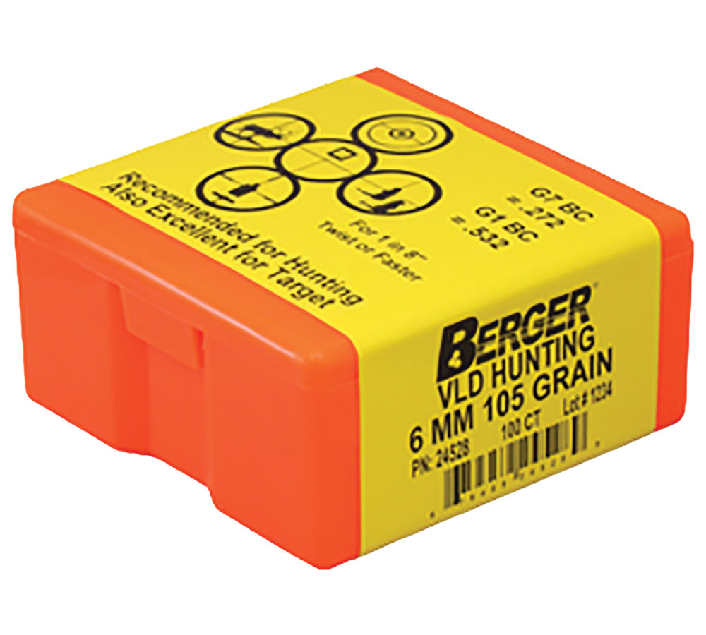 Berger Bullets 24528 Hunting VLD 6mm .243 105 GR 100Bx