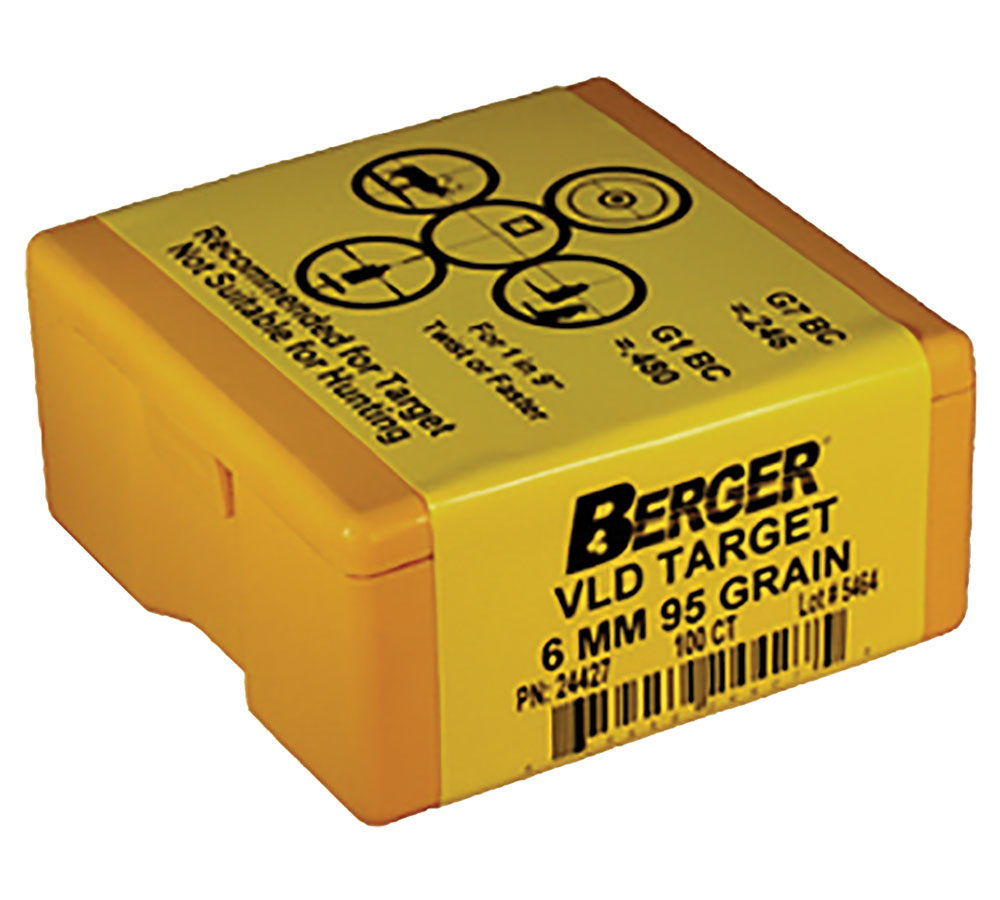 Berger Bullets 25513 Hunting VLD 25 Caliber .257 115 GR 100Bx