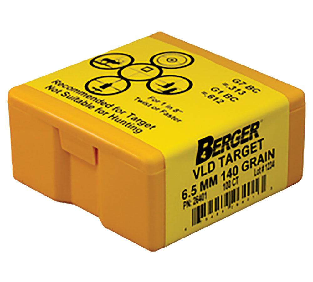 Berger Bullets 26401 Target VLD Match Grade 6.5mm .264 140 GR 100Bx