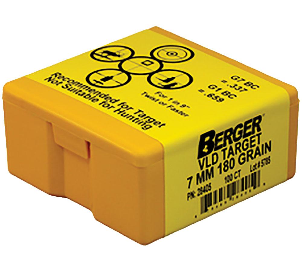 Berger Bullets 28405 Bull .284 180G Target VLD 100