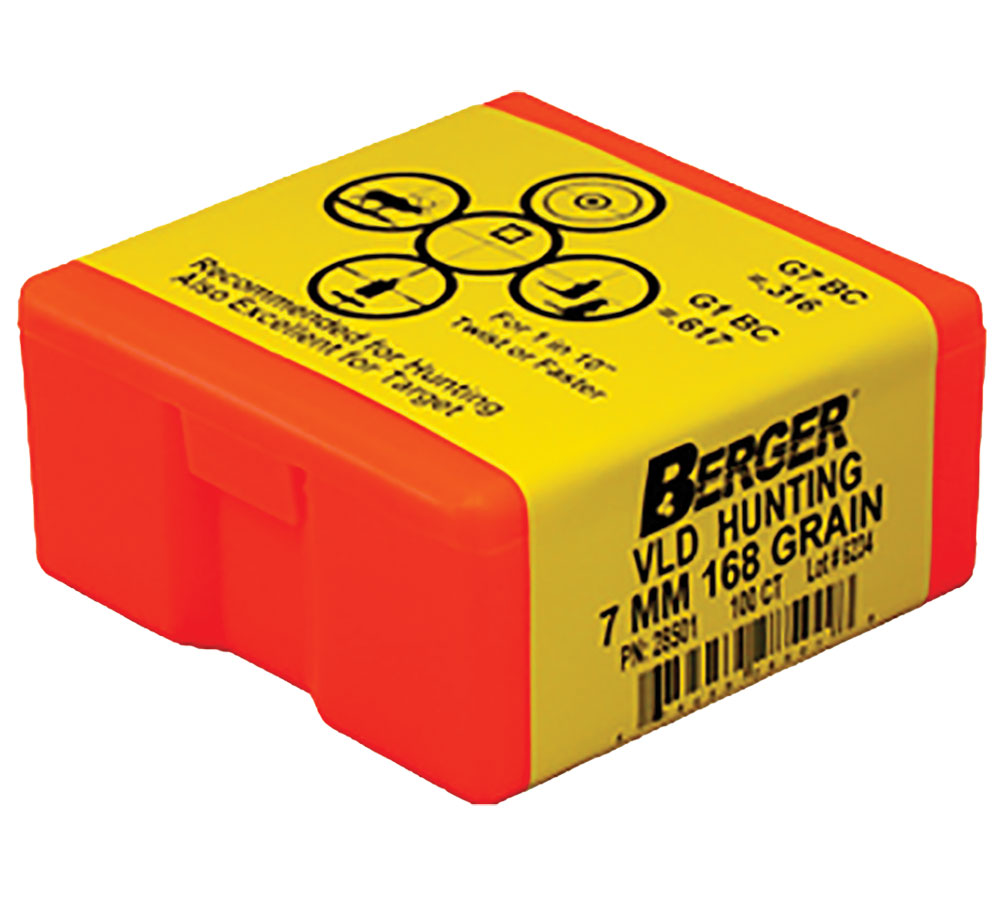 Berger Bullets 28501 Hunting VLD 7mm .284 168 GR 100Bx