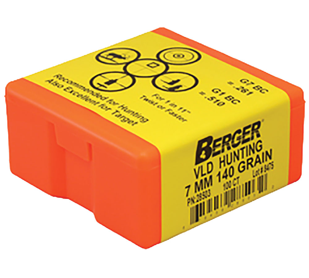 Berger Bullets 28503 Hunting VLD 7mm .284 140 GR 100Bx