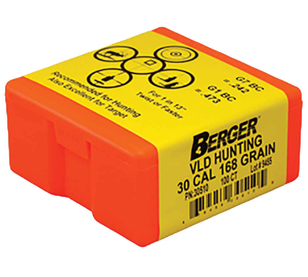 Berger Bullets 30510 Hunting VLD 30 Caliber .308 168 GR 100Bx