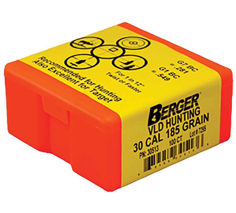 Berger Bullets 30513 Hunting VLD 30 Caliber .308 185 GR 100Bx