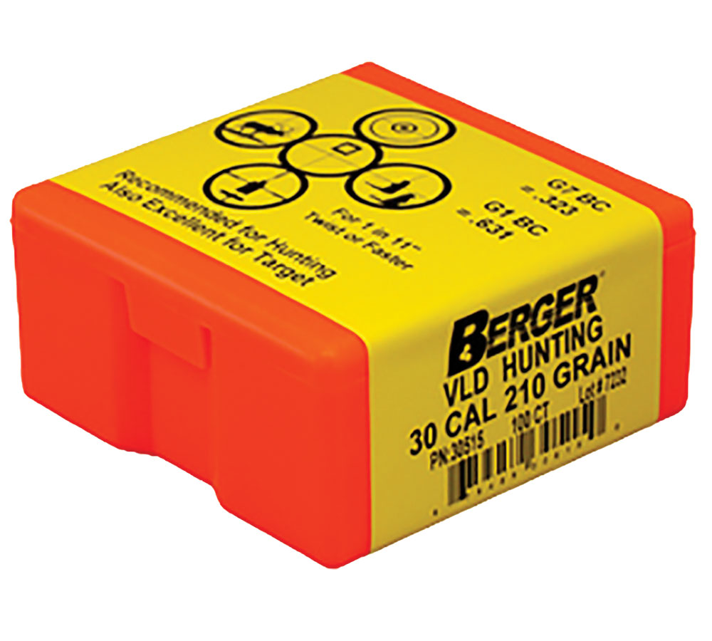 Berger Bullets 30515 Hunting VLD 30 Caliber .308 210 GR 100Bx