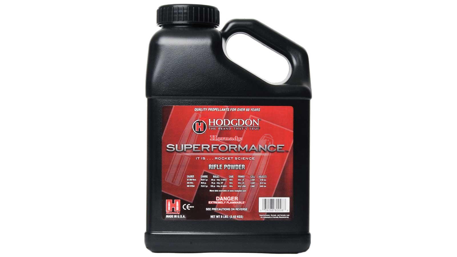Hodgdon HSP8 Spherical Superformance Rifle Powder 8 lbs