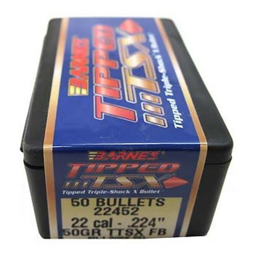 Barnes Bullets 30185 Rifle 22 Caliber .224 50 GR TTSX FB 50 Box