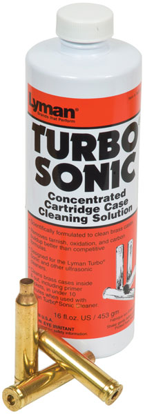 Lyman 7631705 Turbo Sonic Brass Case Cleaner 1 Universal 16 fl oz