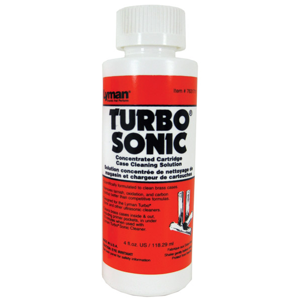 Lyman 7631711 Turbo Sonic Concentrated Cartridge Case Cleaning Solution 4 oz