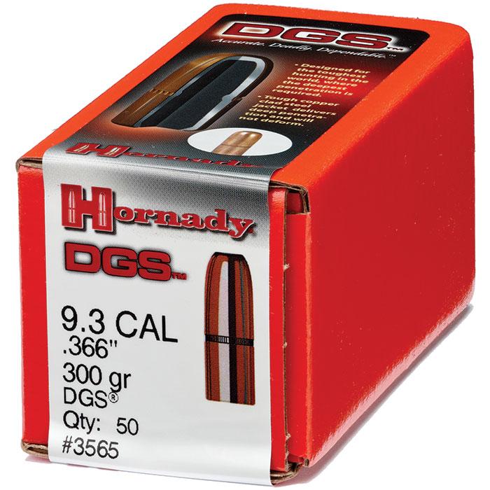 Hornady 3565 DGS  9.3mm .366 300 GR 50 Box