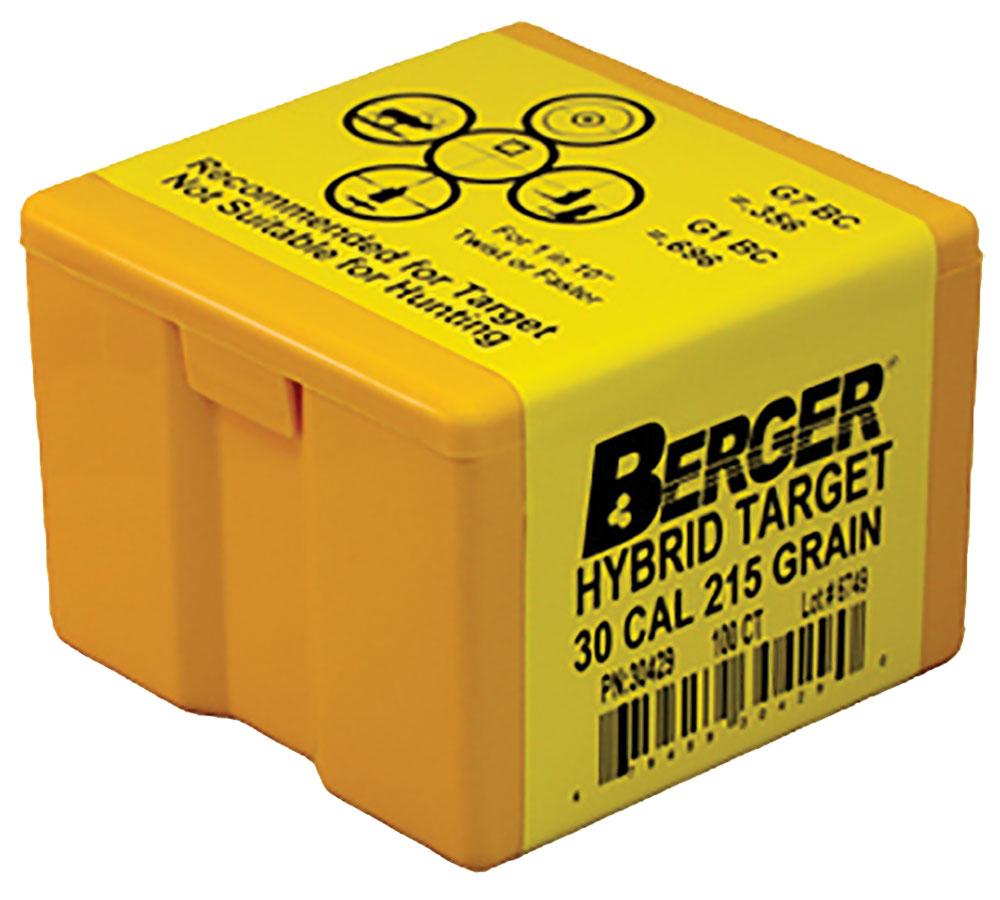 Berger 30cal 215gr Match Hybrid Target-100 per box
