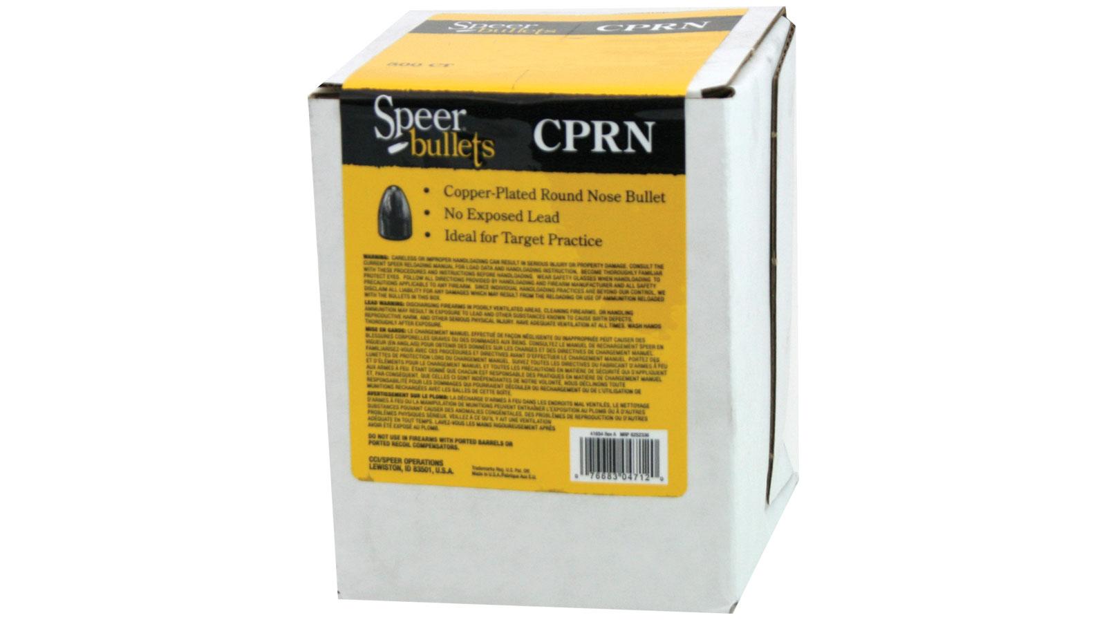 Speer Bullets 4714 Handgun Plinking  45 Caliber .454 230 GR Round Nose Value Pack 500 Box