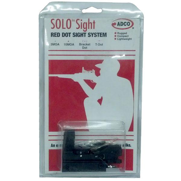 ADCO SOLO Solo 1x 33mm Obj Unlimited Eye Relief 3|10 MOA Black