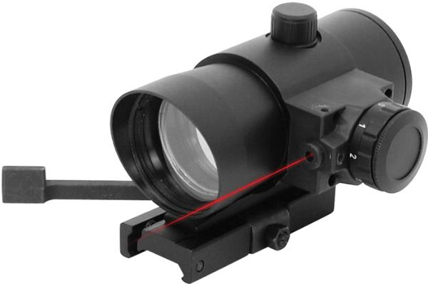 NCStar DLB140R Red Dot with Laser 1x 40mm Obj Unlimited Eye Relief 3 MOA Black