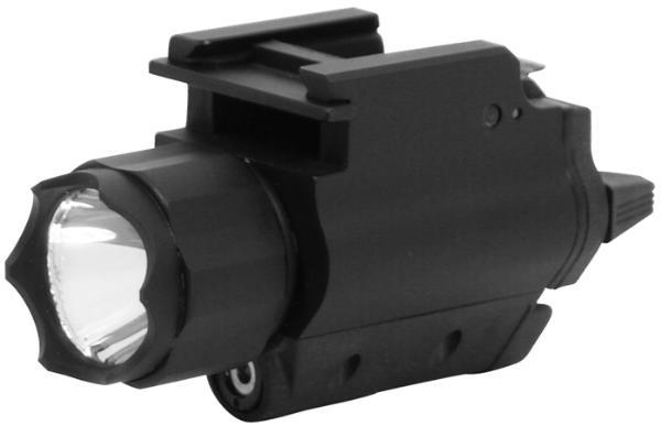 NCStar AQPFLS Flashlight Laser with QR Mount Red Laser Universal w Accessory Rail