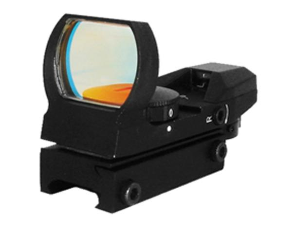 NCStar D4B Red Four Reticle Reflex 1x 33mm Obj Unlimited Eye Relief 3 MOA Black Hard Coat Anodized