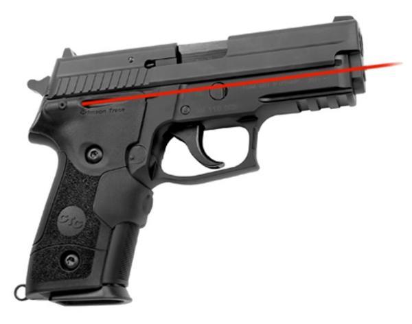 Crimson Trace LG429 Lasergrips Red Laser Sig 229|228 Front Activation Blk