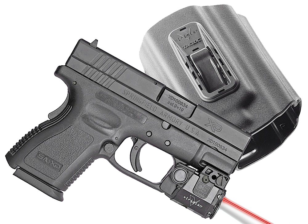 Viridian C5L-R w| TacLoc holster for Springfield XD|XDm