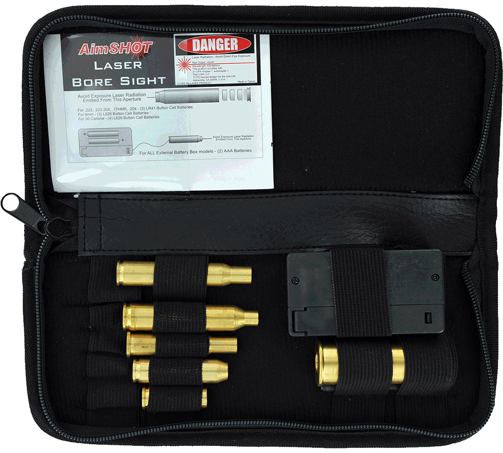 Aimshot KTRIFLE Boresight Rifle Kit Laser Universal Rifle Calibers Brass