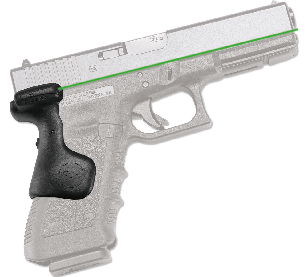 Crimson LG637G Lasergrip For Glock Gen3 Green Laser Glock 17|17L|22|31|34|35 Gri